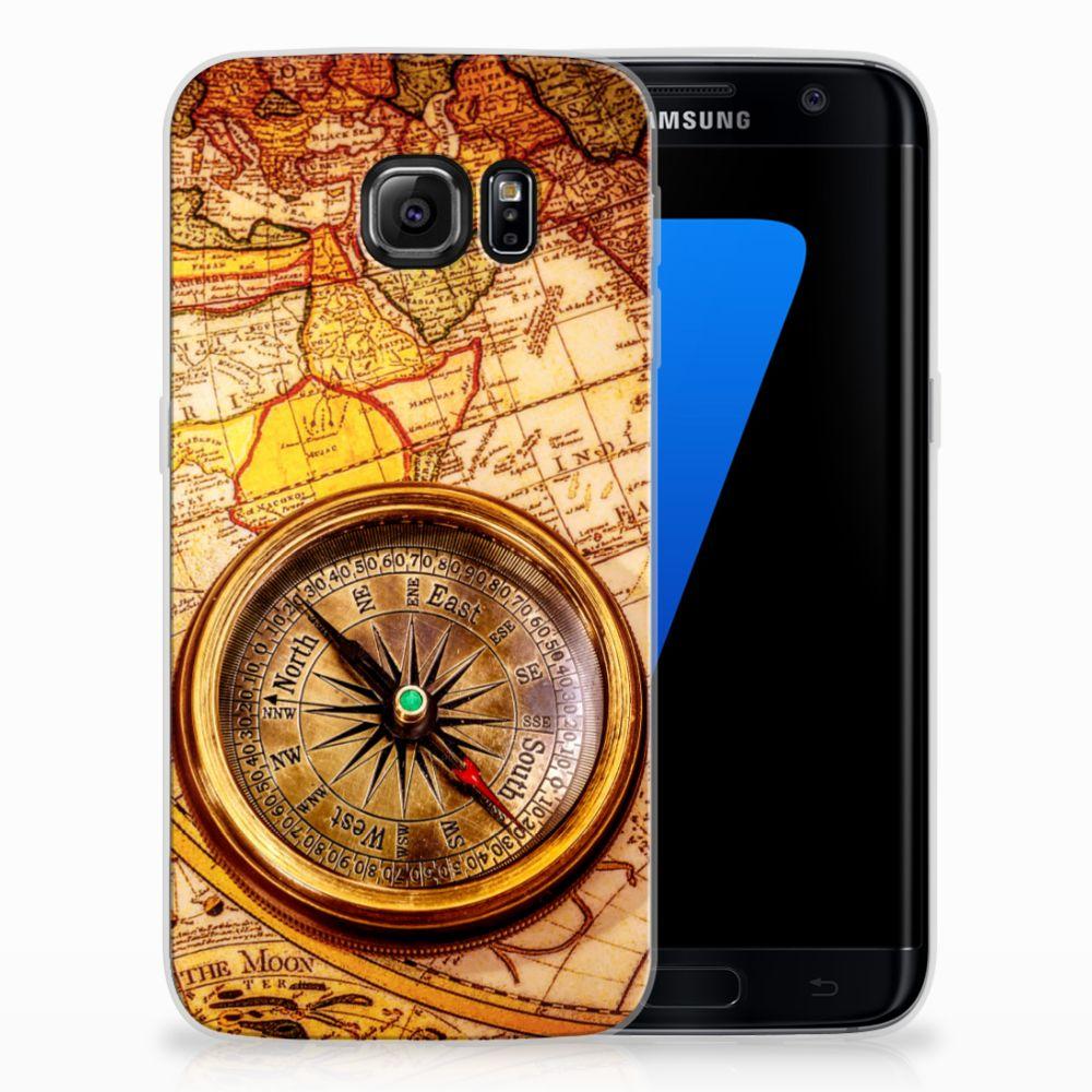 Samsung Galaxy S7 Edge TPU Hoesje Design Kompas
