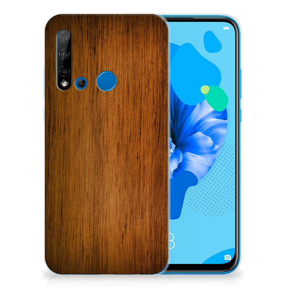 Huawei P20 Lite (2019) Bumper Hoesje Donker Hout