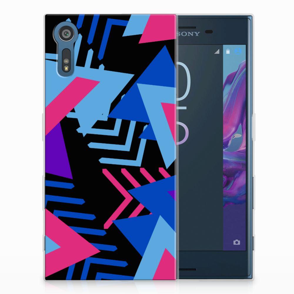 Sony Xperia XZs | XZ TPU Hoesje Design Funky Triangle