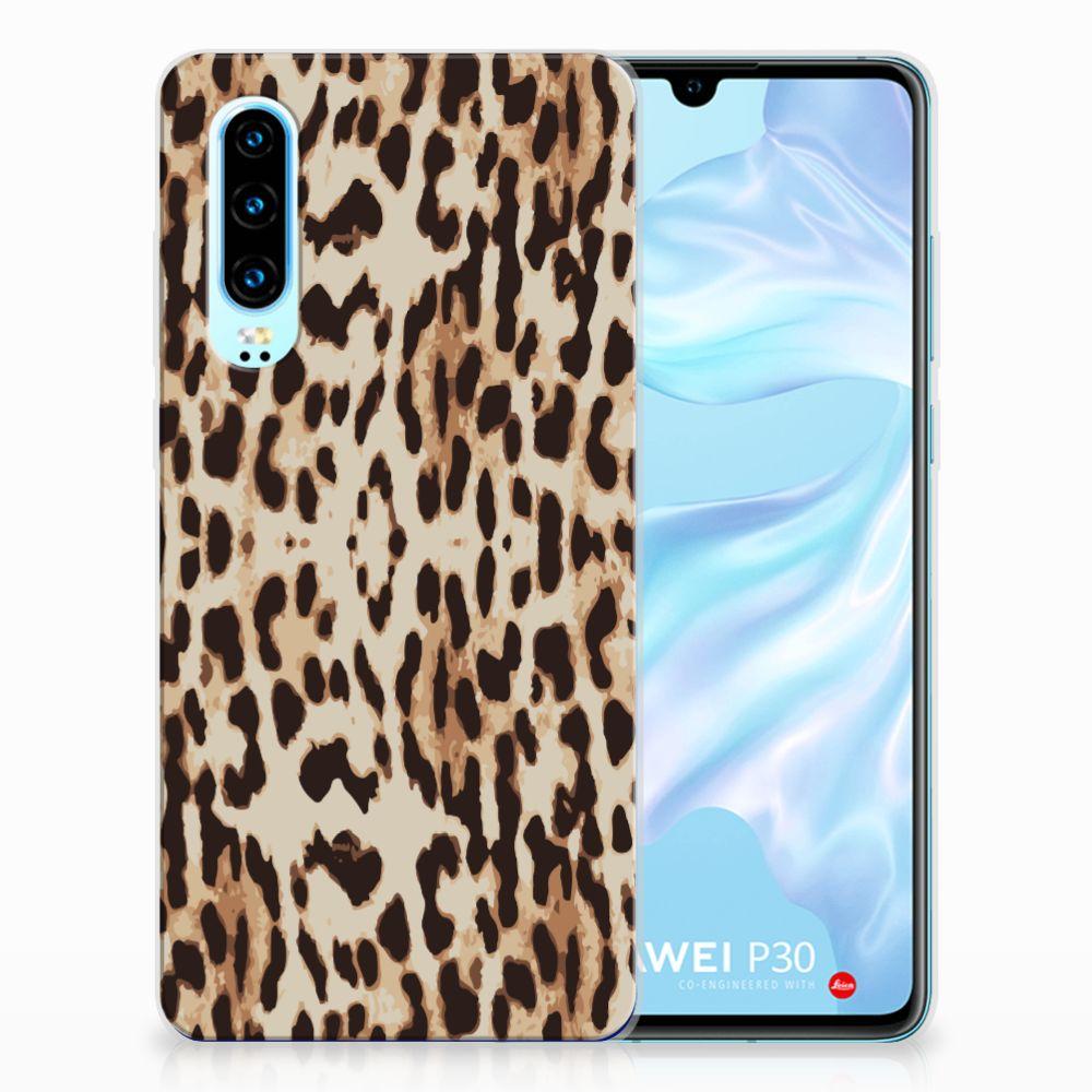 Huawei P30 TPU Hoesje Leopard