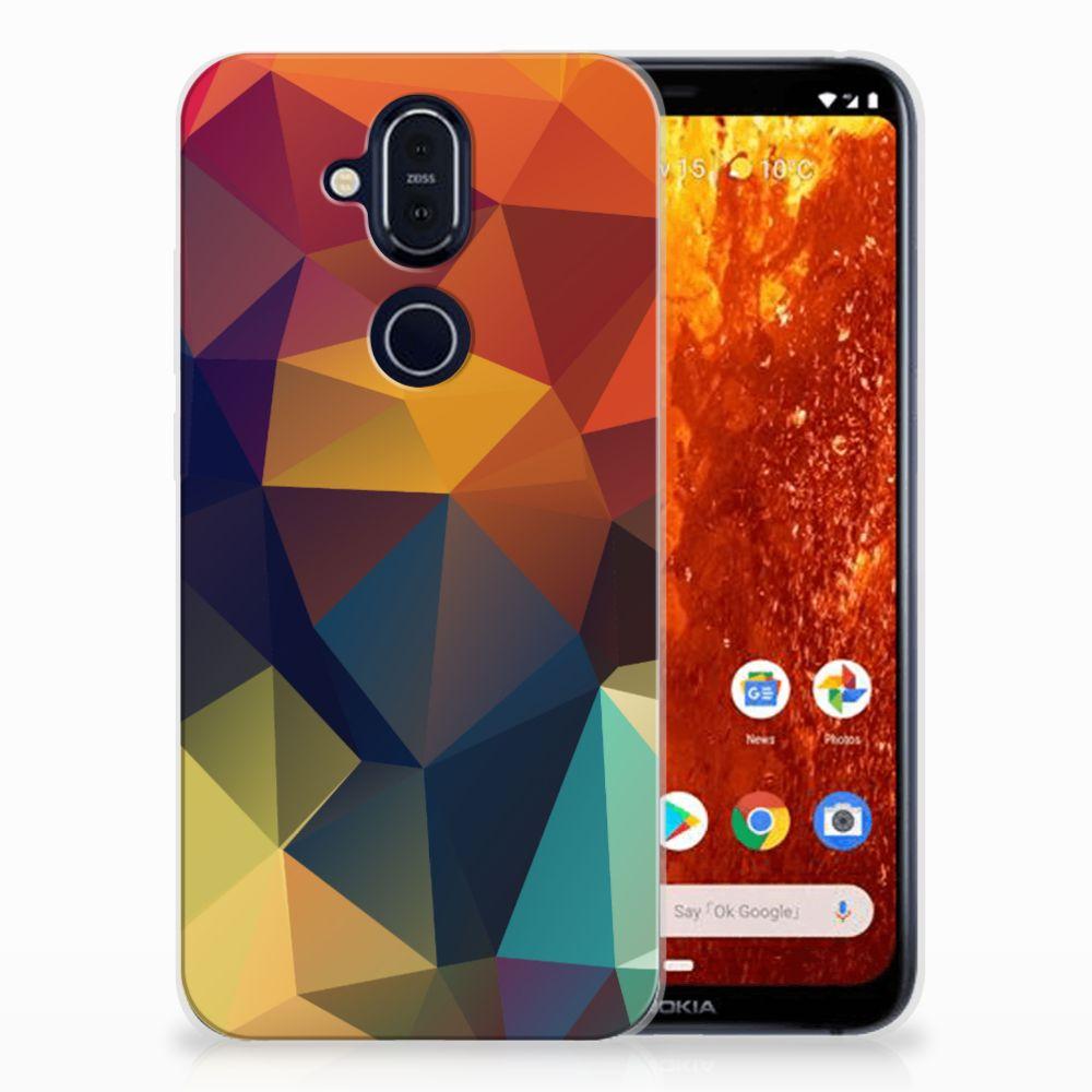 Nokia 8.1 TPU Hoesje Polygon Color