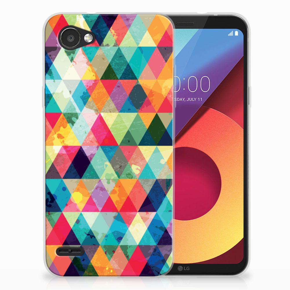 LG Q6 | LG Q6 Plus Uniek TPU Hoesje Geruit