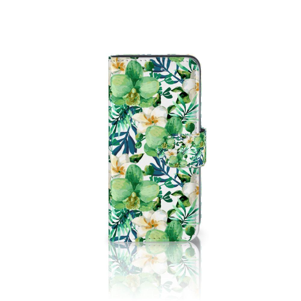 Samsung Galaxy A5 2016 Uniek Boekhoesje Orchidee Groen