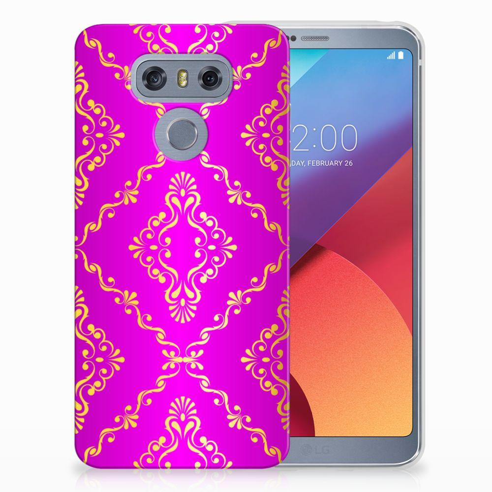 LG G6 Uniek TPU Hoesje Barok Roze