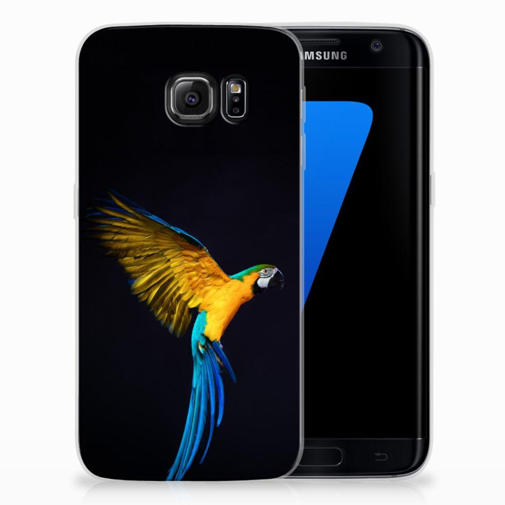 Samsung Galaxy S7 Edge TPU Hoesje Design Papegaai