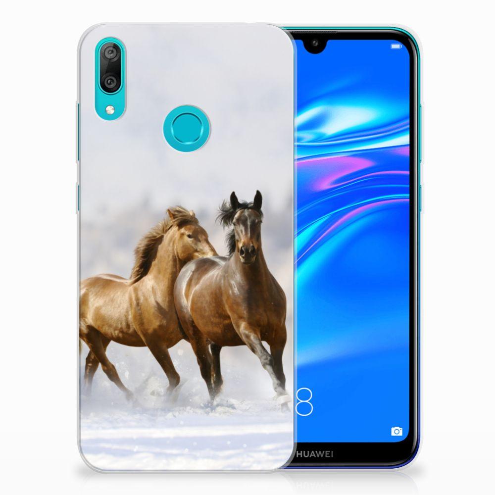 Huawei Y7 2019 TPU Hoesje Paarden