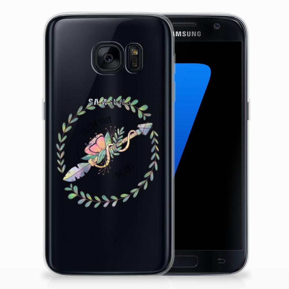 Samsung Galaxy S7 Telefoonhoesje met Naam Boho Dreams