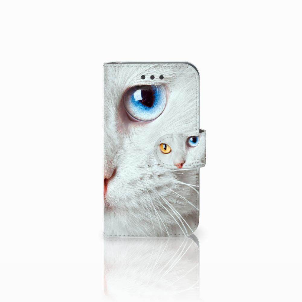 Samsung Galaxy Core 2 Uniek Boekhoesje Witte Kat