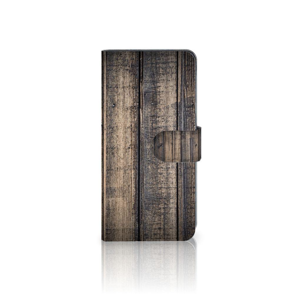 LG V40 Thinq Boekhoesje Design Steigerhout