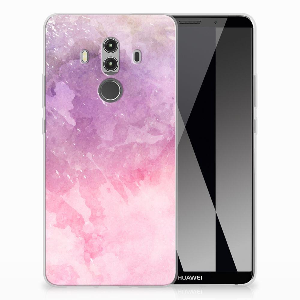 Huawei Mate 10 Pro TPU Hoesje Design Pink Purple Paint