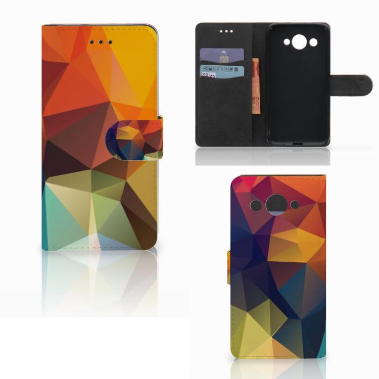 Huawei Y3 2017 Bookcase Polygon Color