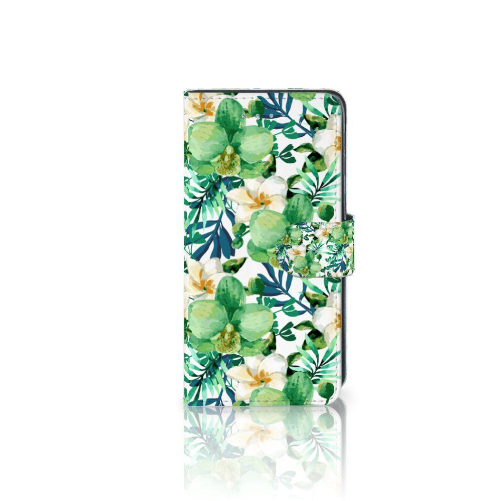 Samsung Galaxy J3 2016 Uniek Boekhoesje Orchidee Groen