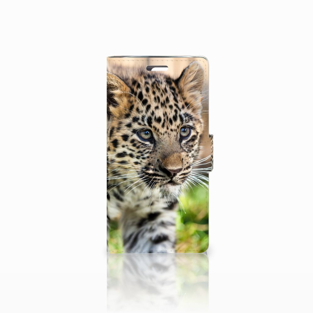 LG K10 2015 Uniek Boekhoesje Baby Luipaard