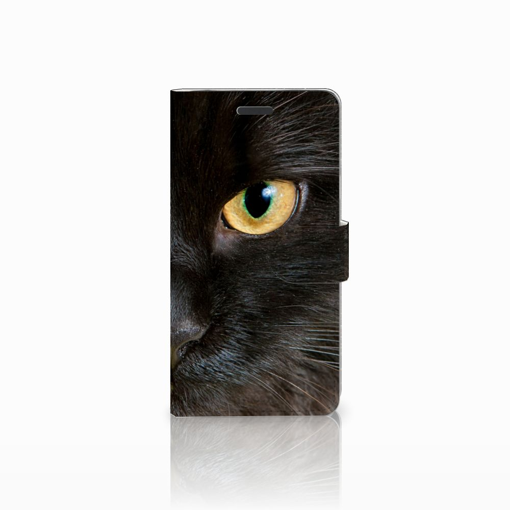 Samsung Galaxy Note 5 Uniek Boekhoesje Zwarte Kat