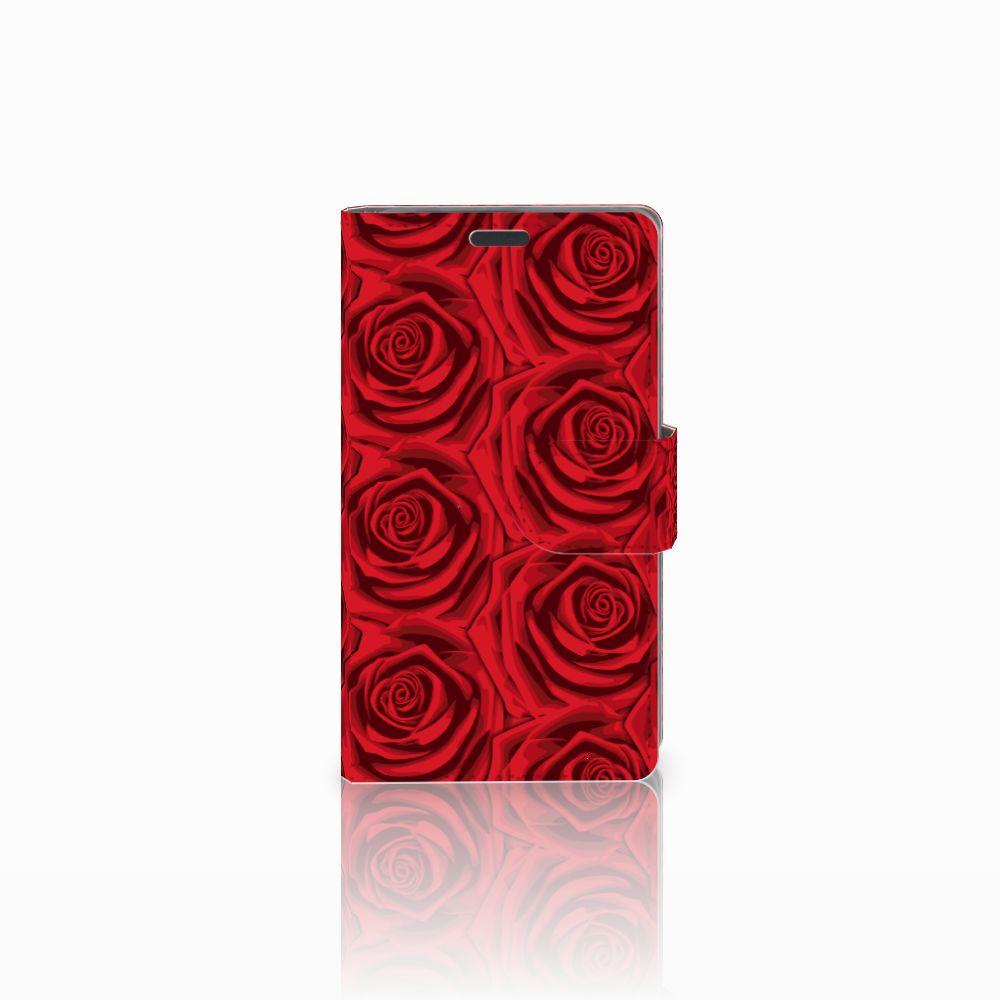 Nokia Lumia 625 Uniek Boekhoesje Red Roses