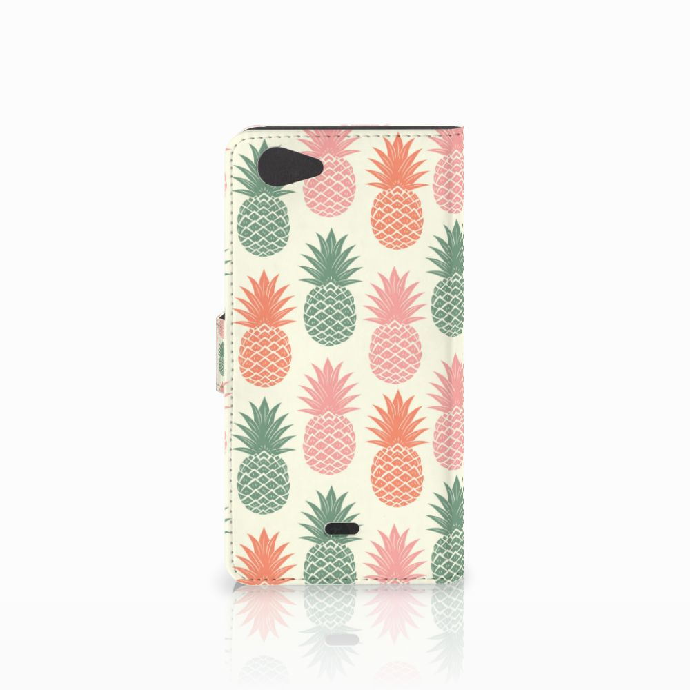 Wiko Pulp Fab 4G Book Cover Ananas