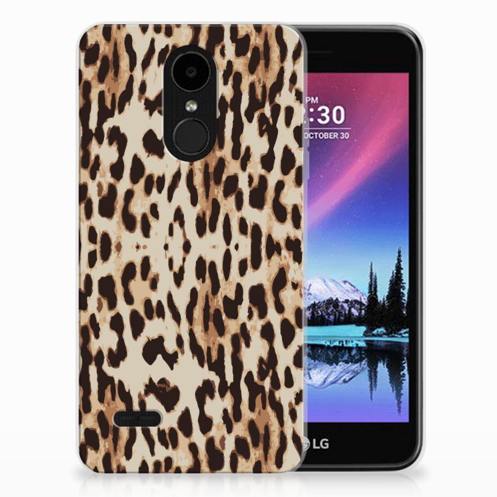 LG K4 (2017) TPU Hoesje Leopard