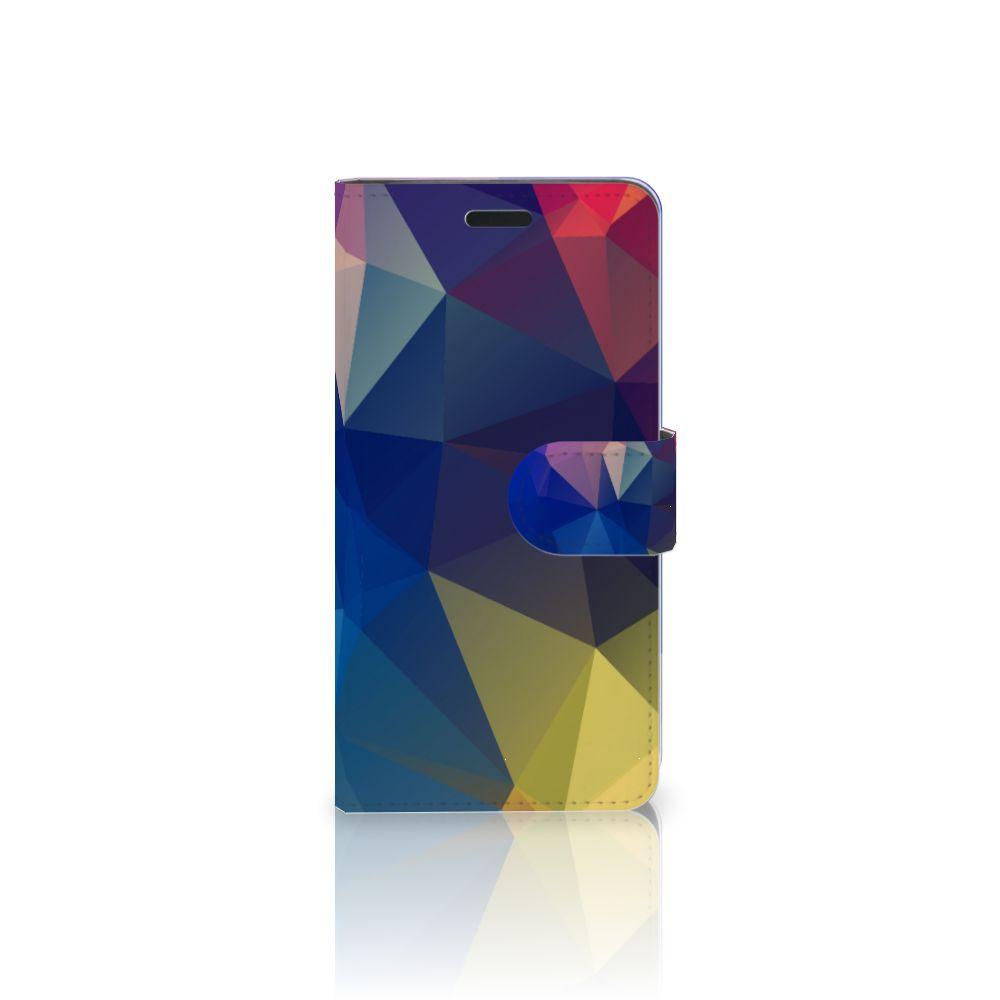 HTC 10 Uniek Boekhoesje Polygon Dark