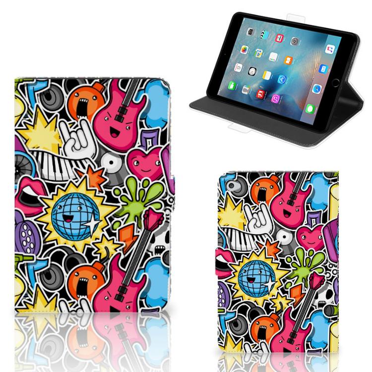 Apple iPad Mini 5 Tablet Hoes met standaard Punk Rock