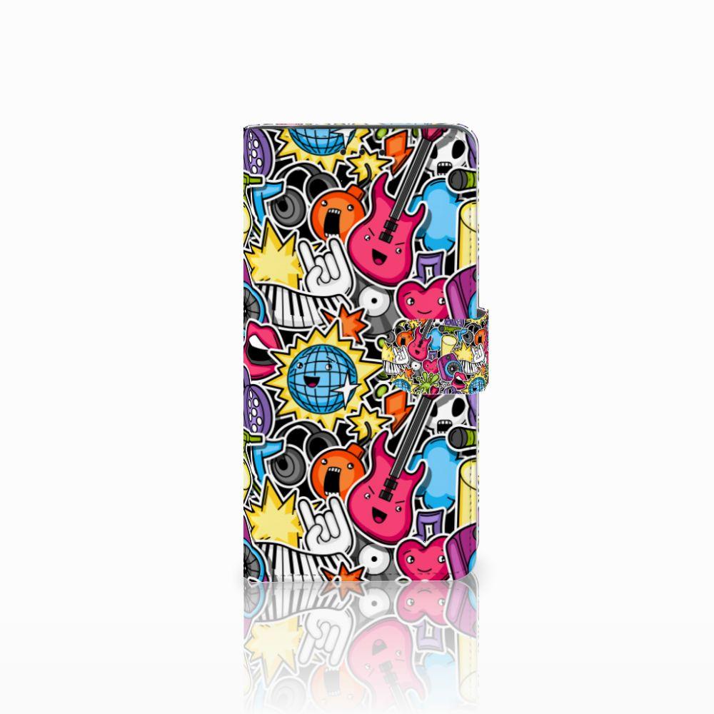 Samsung Galaxy J6 Plus (2018) Wallet Case met Pasjes Punk Rock