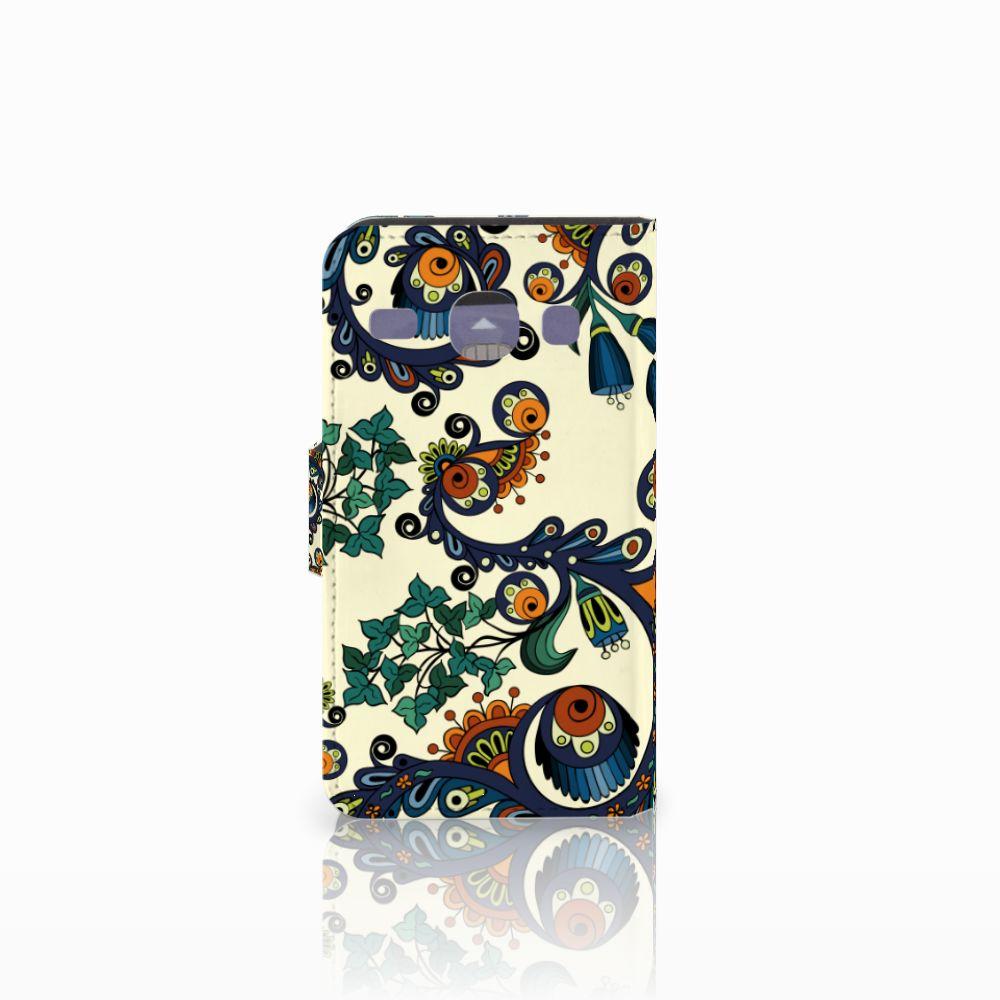 Wallet Case Samsung Galaxy Core i8260 Barok Flower