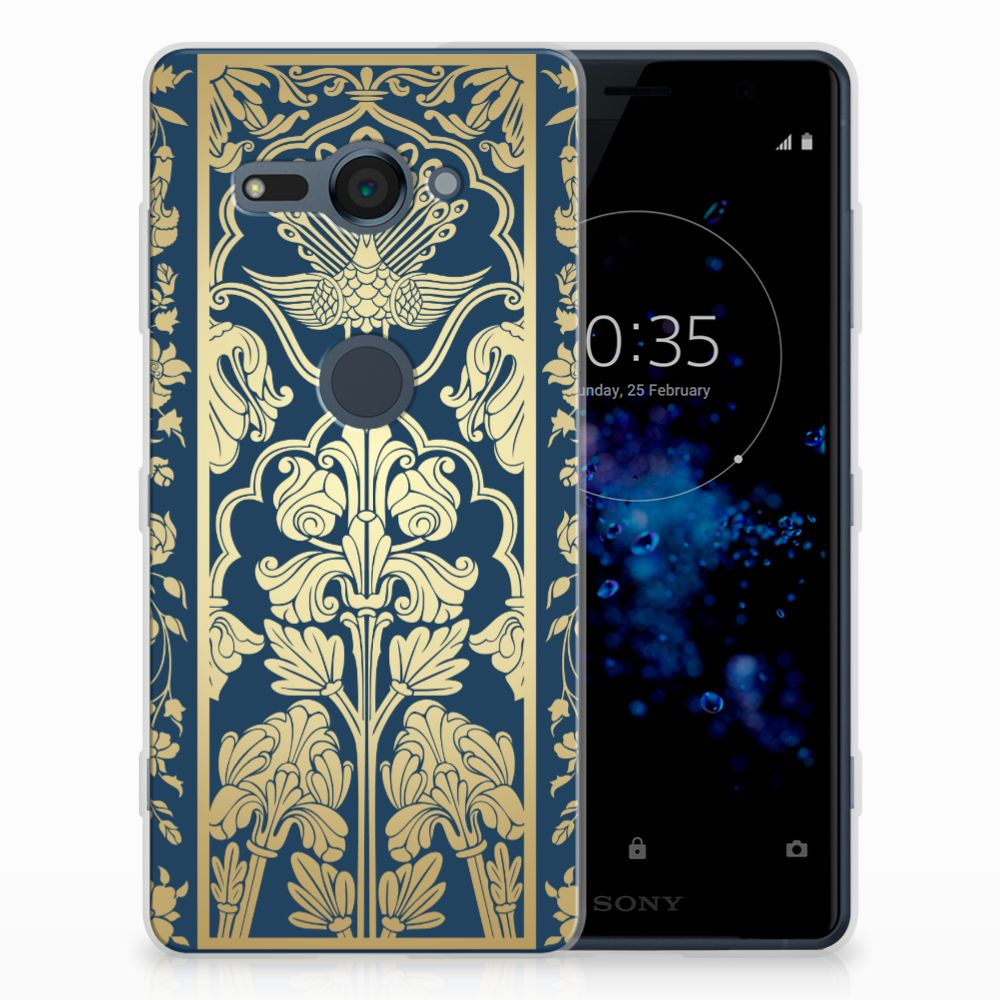 Sony Xperia XZ2 Compact TPU Case Golden Flowers