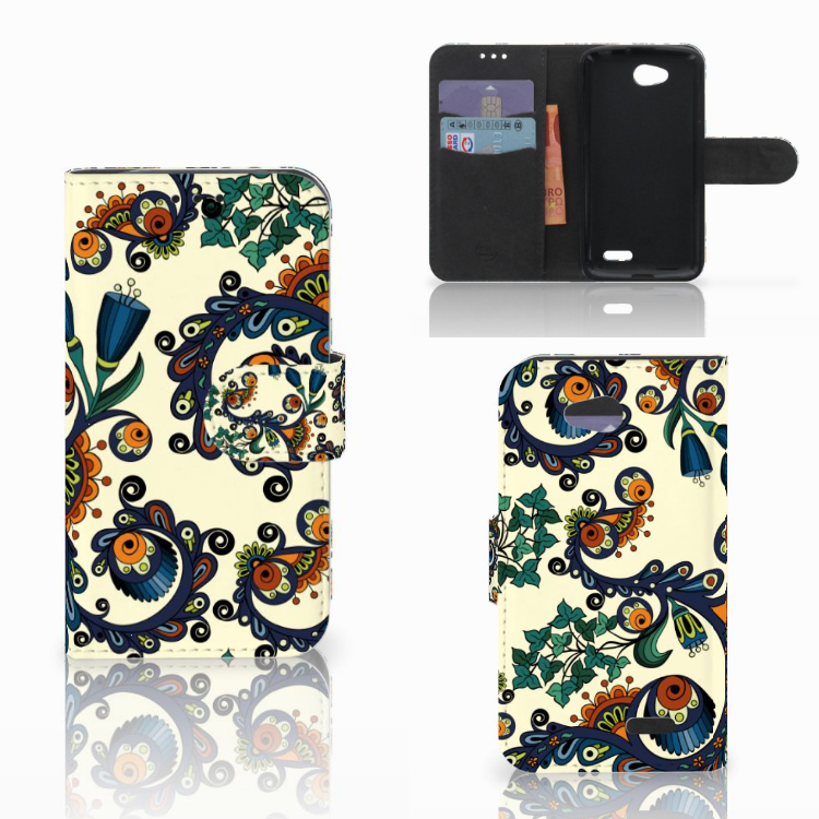 Wallet Case LG L90 Barok Flower