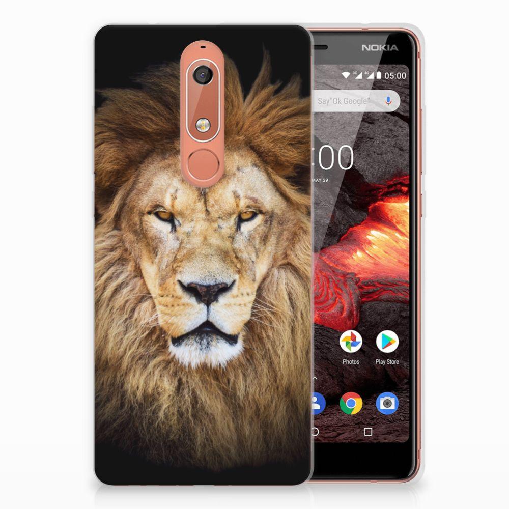 Nokia 5.1 (2018) TPU Hoesje Leeuw