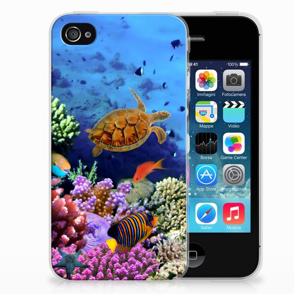Apple iPhone 4 | 4s TPU Hoesje Design Vissen