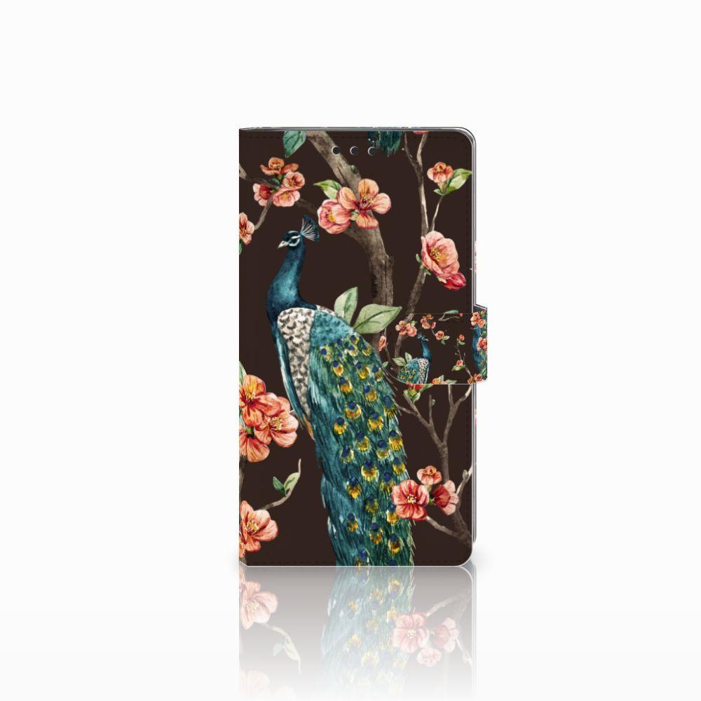 Sony Xperia XA2 Ultra Boekhoesje Design Pauw met Bloemen