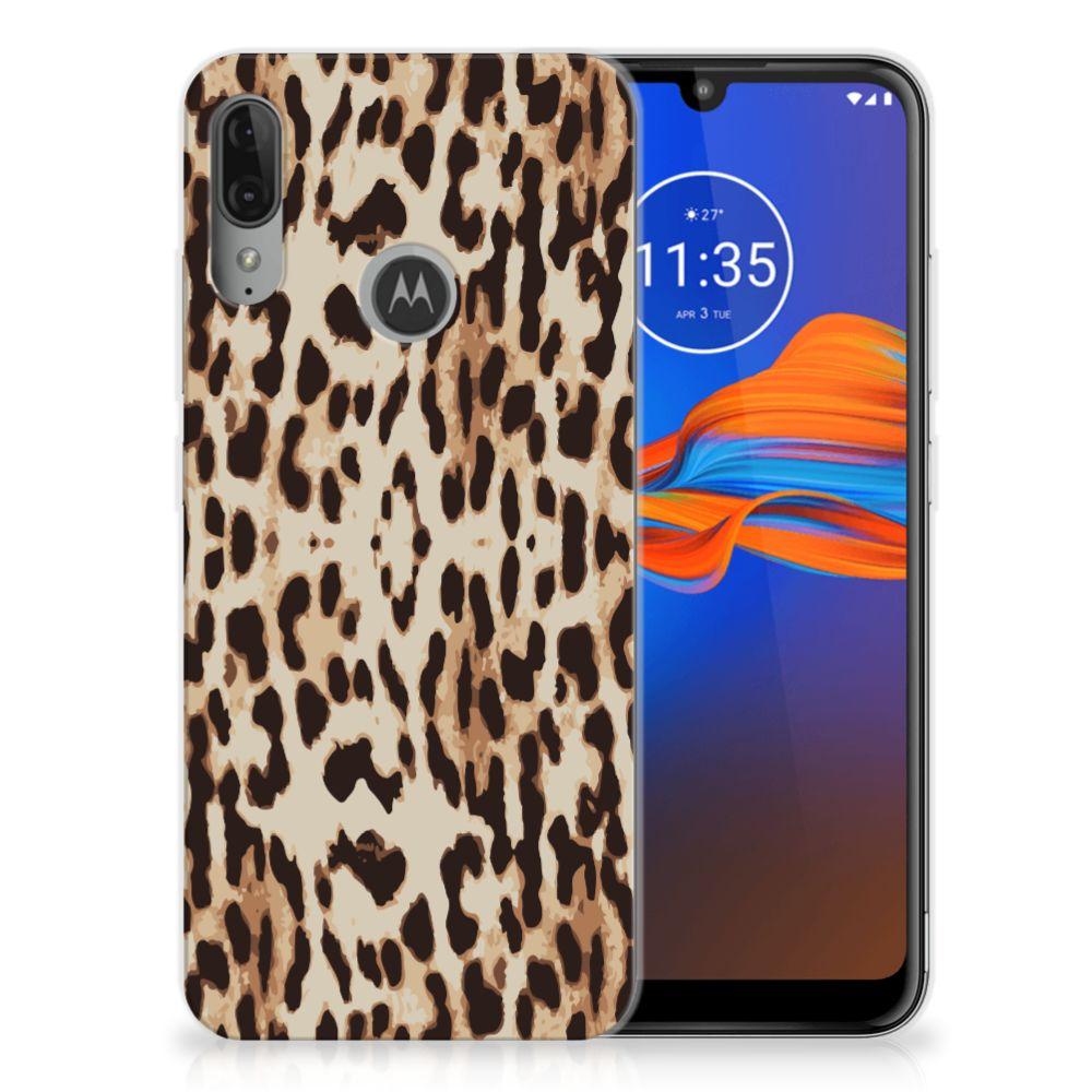 Motorola Moto E6 Plus TPU Hoesje Leopard