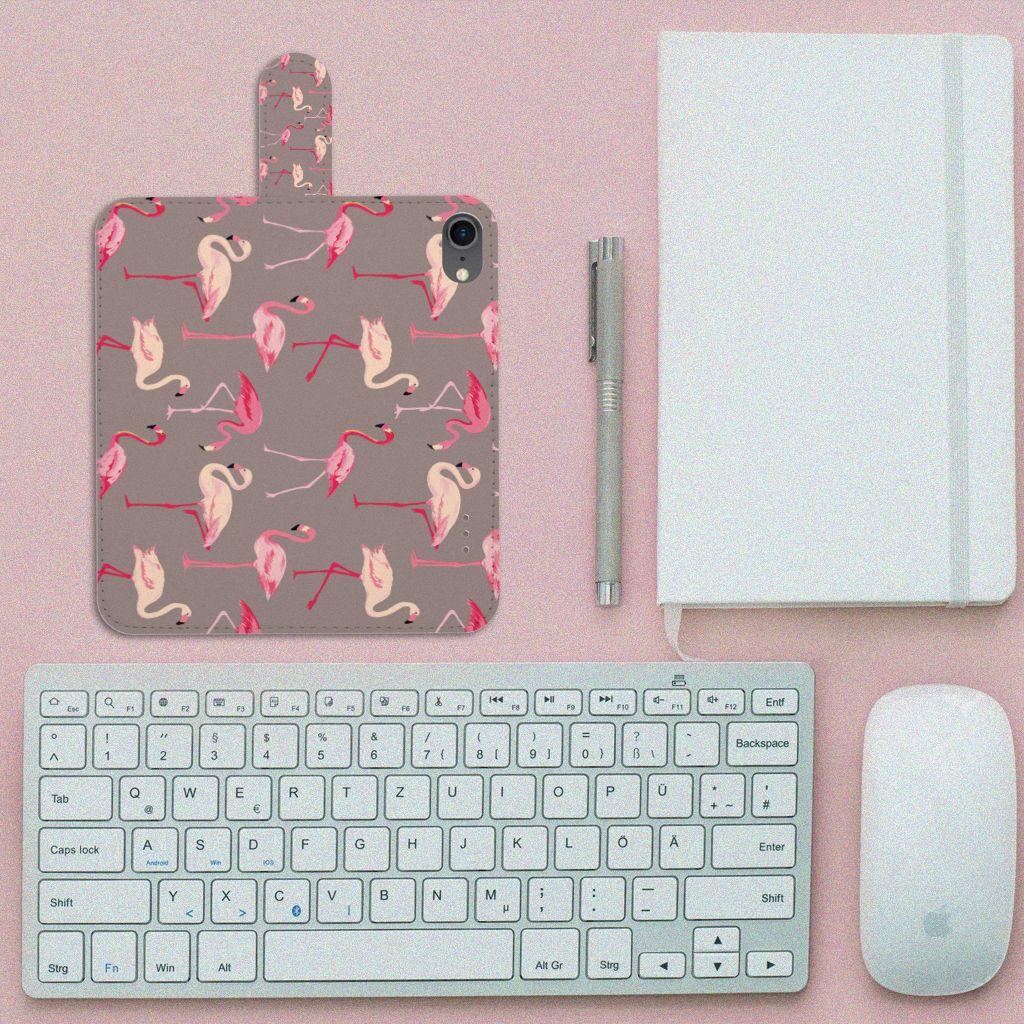 iPhone 7 | 8 | SE (2020) Telefoonhoesje met Pasjes Flamingo