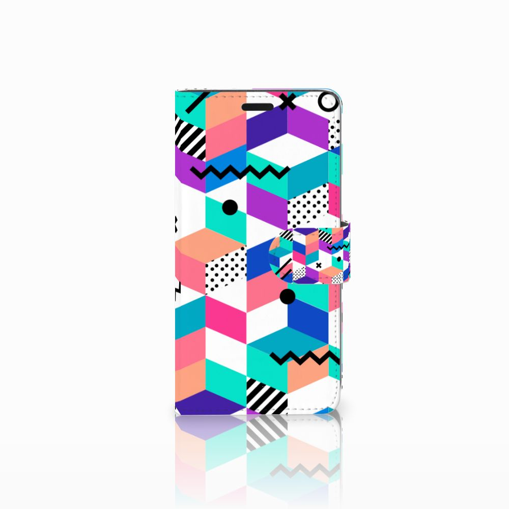 HTC Desire 530 Bookcase Blokken Kleurrijk