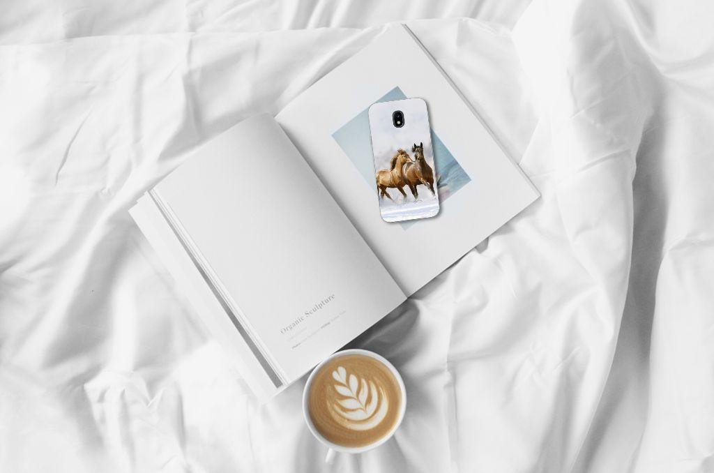 Samsung Galaxy J3 2017 Uniek TPU Hoesje Paarden