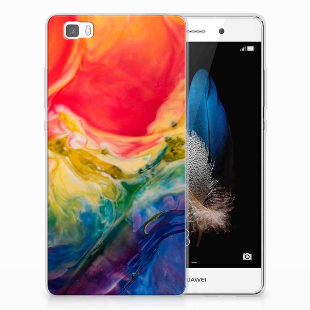Hoesje maken Huawei Ascend P8 Lite Watercolor Dark