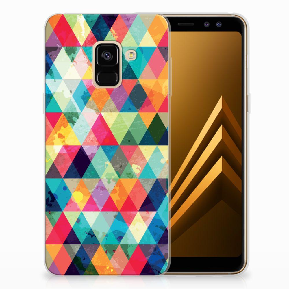 Samsung Galaxy A8 (2018) Uniek TPU Hoesje Geruit