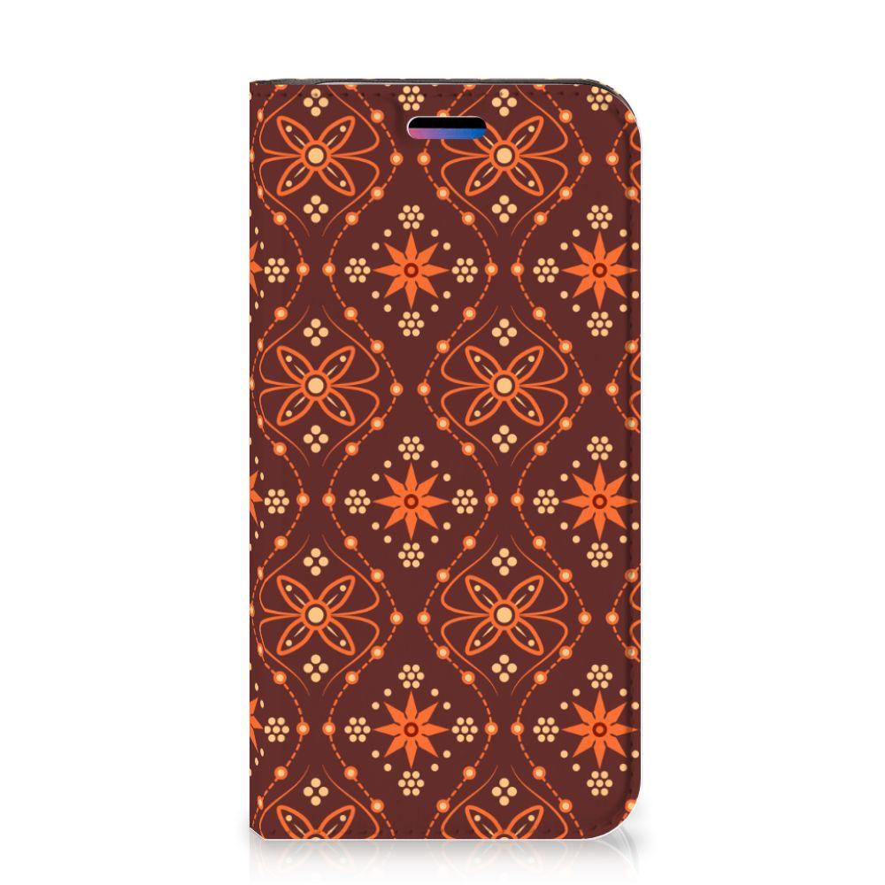 Apple iPhone X | Xs Hoesje met Magneet Batik Brown