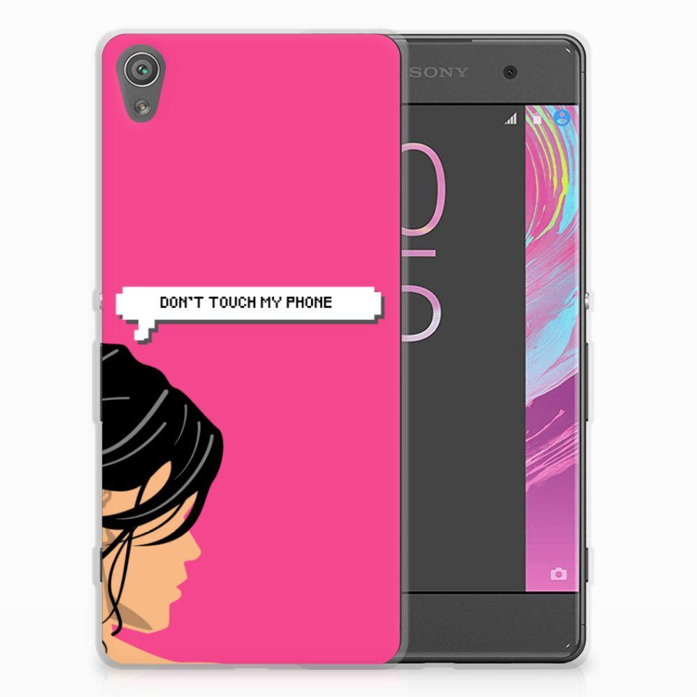 Sony Xperia XA   XA Dual Silicone-hoesje Woman Don't Touch My Phone