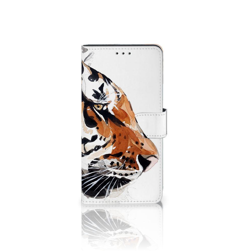 Samsung Galaxy A7 (2018) Uniek Boekhoesje Watercolor Tiger
