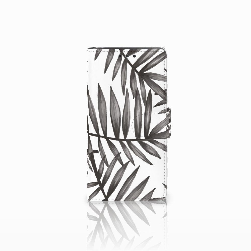 LG Bello 2 Uniek Boekhoesje Leaves Grey