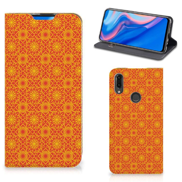 Huawei P Smart Z Hoesje met Magneet Batik Oranje