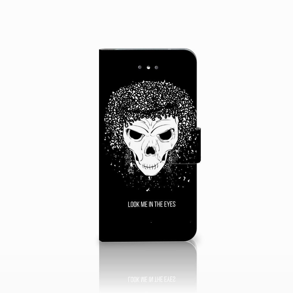 LG Nexus 5X Uniek Boekhoesje Skull Hair