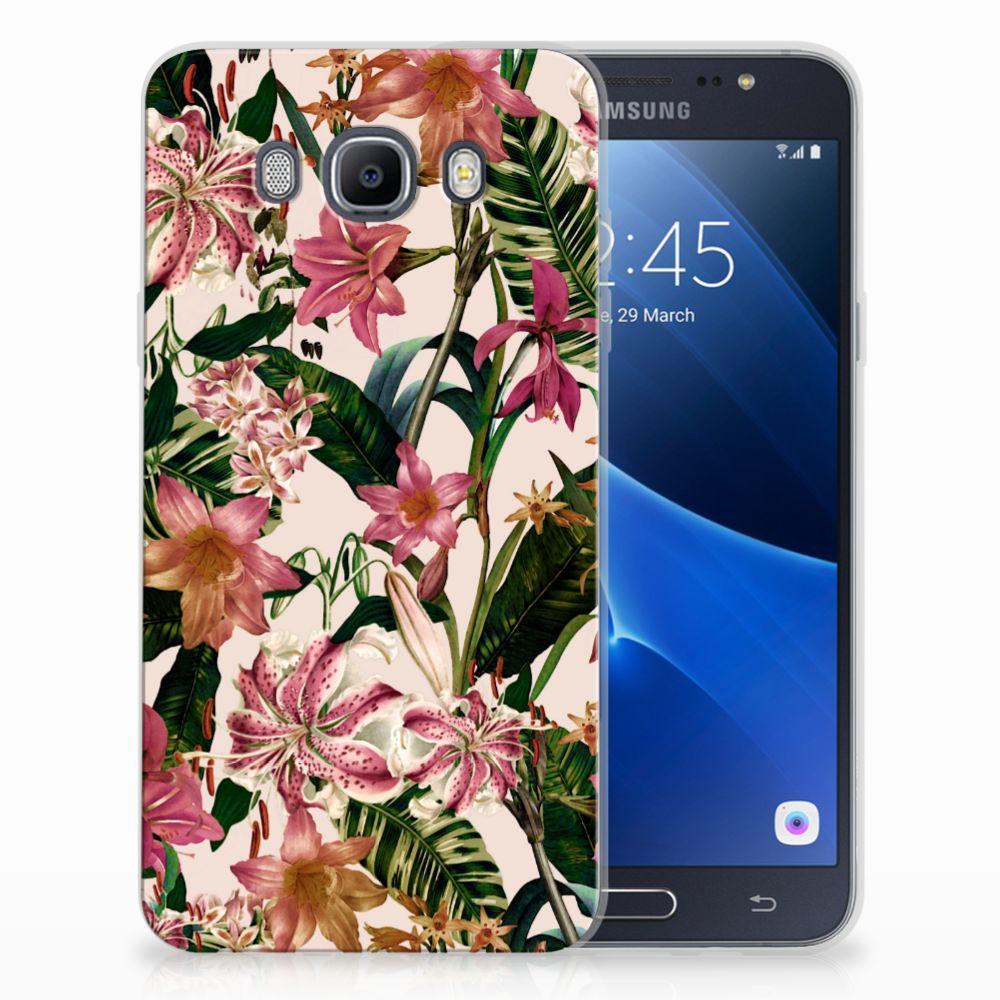 Samsung Galaxy J7 2016 Uniek TPU Hoesje Flowers