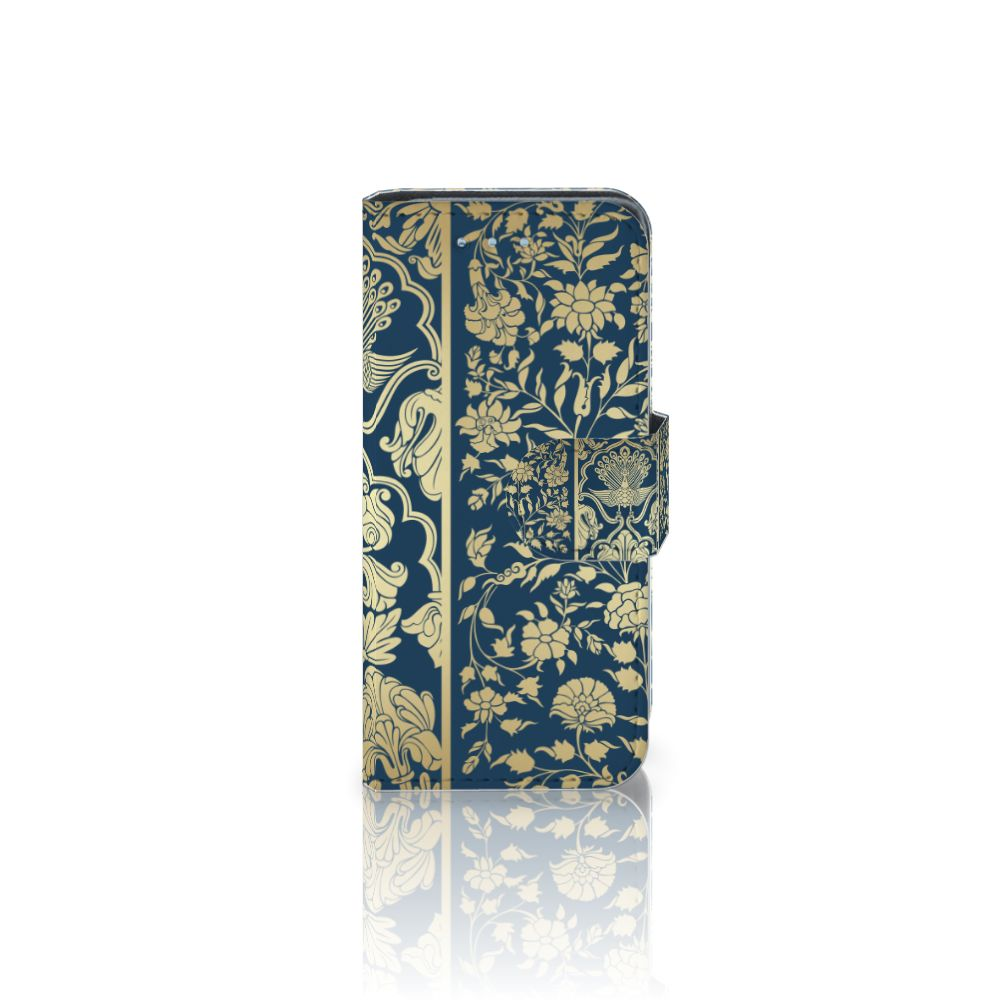 Samsung Galaxy S4 Mini i9190 Boekhoesje Golden Flowers