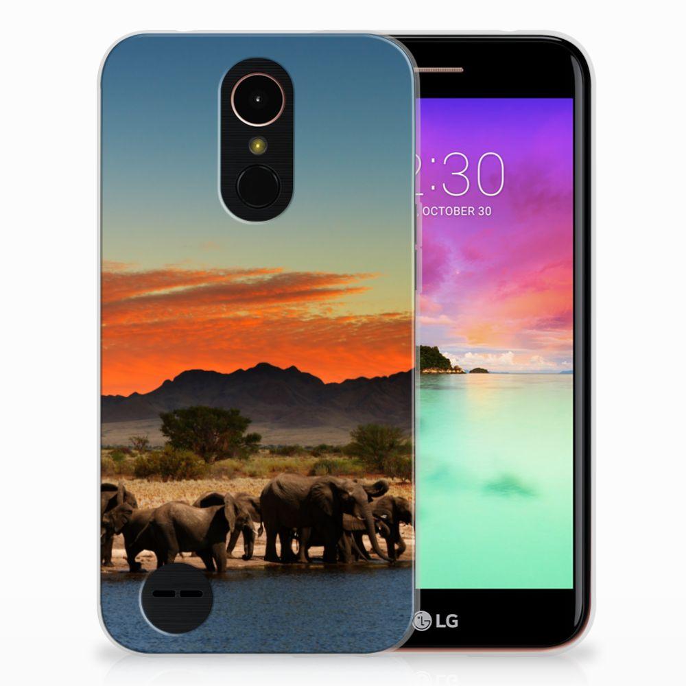 LG K10 2017 TPU Hoesje Design Olifanten