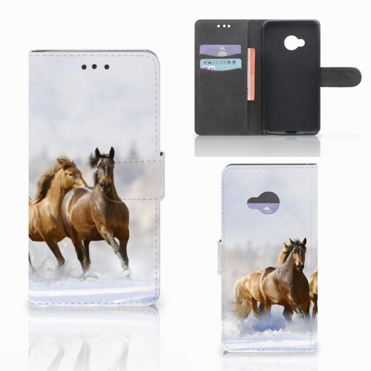 HTC U Play Telefoonhoesje met Pasjes Paarden