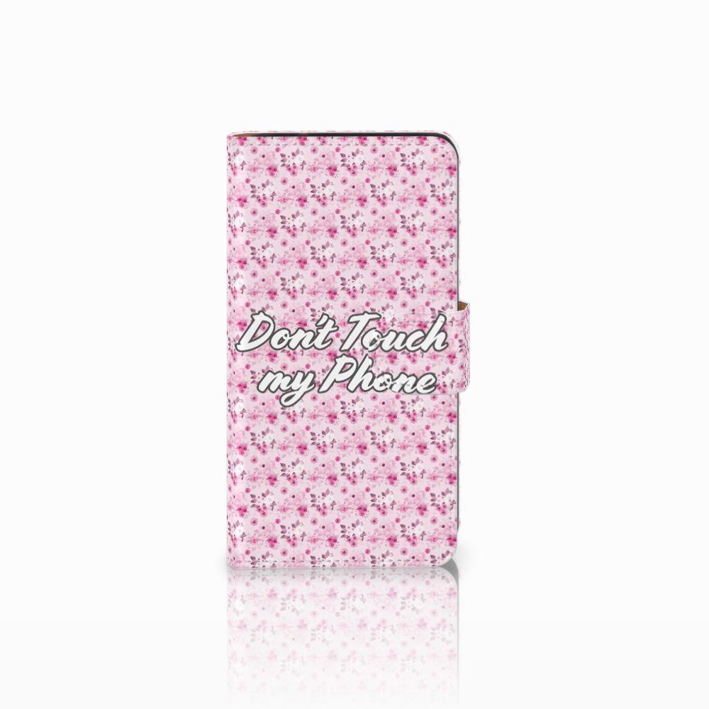 Samsung Galaxy J2 (2015) Uniek Boekhoesje Flowers Pink DTMP