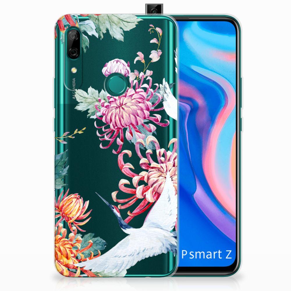 Huawei P Smart Z TPU Hoesje Bird Flowers
