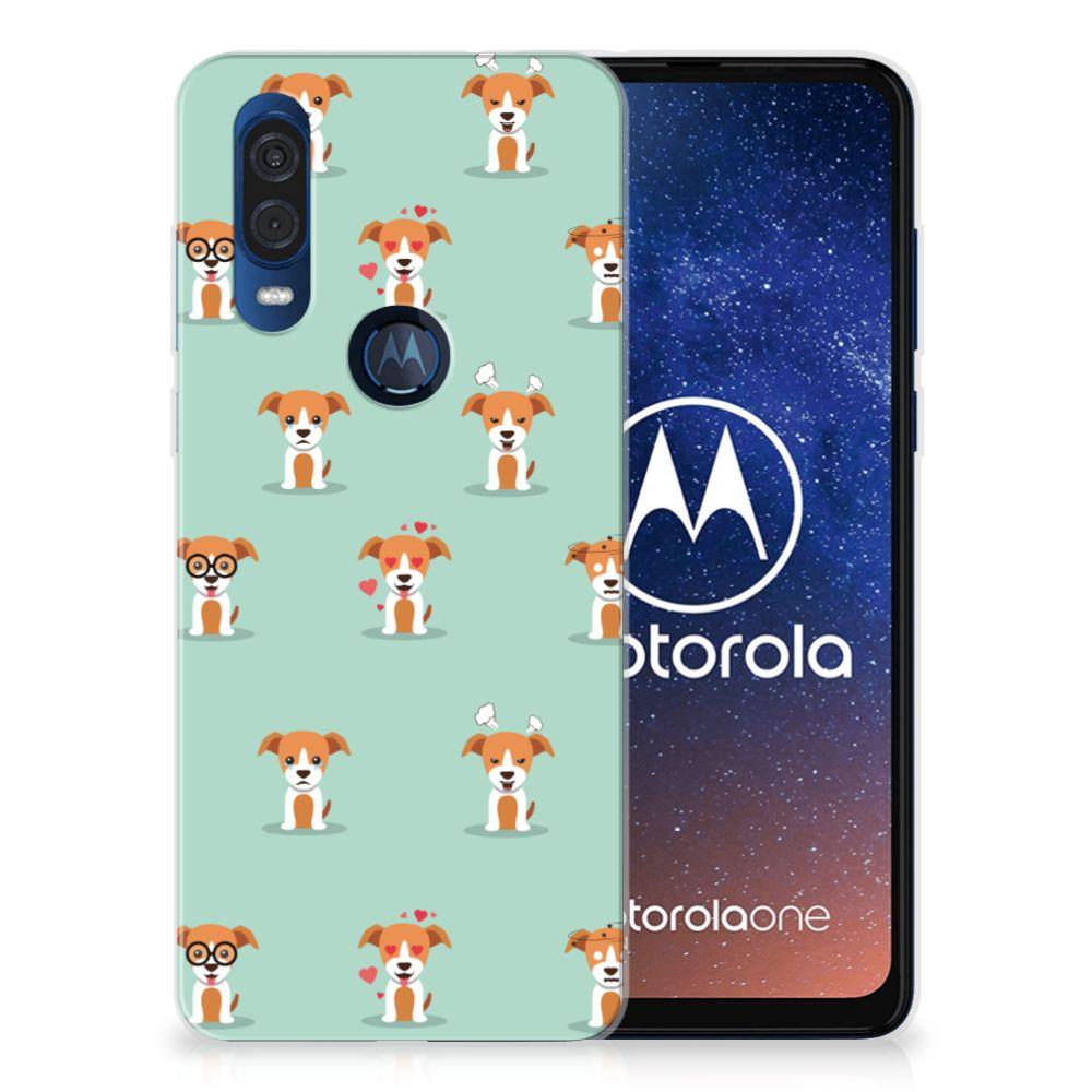Motorola One Vision TPU Hoesje Pups