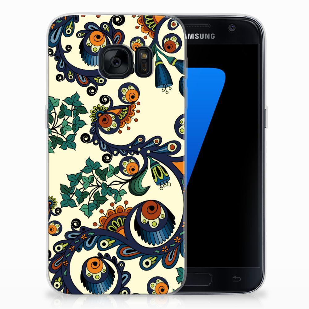 Siliconen Hoesje Samsung Galaxy S7 Barok Flower